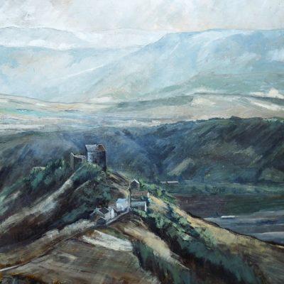 Château de Montaigut, huile sur toile