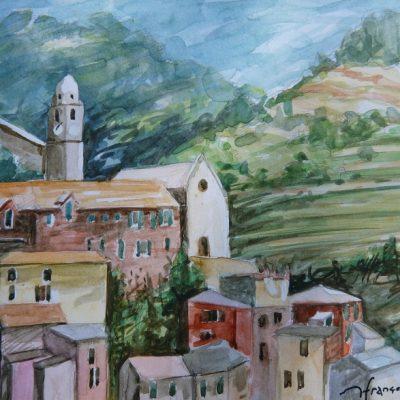 Riomaggiore, aquarelle
