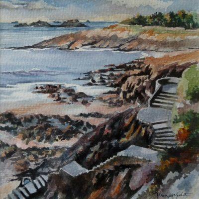 Petite plage, aquarelle