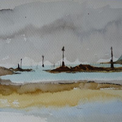Banc de Harbour, aquarelle