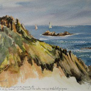 Cap Camarat, aquarelle