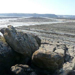 La baie, entre Saint-Jacut et les Hébihens