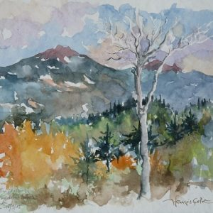 Monts Chic-Chocs : le Mont Richardson,(aquarelle, 25 x 18 cm).