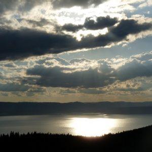 """Parc National Forillon : au-dessus de """"Grande-Grave"""", la baie de Gaspé."""