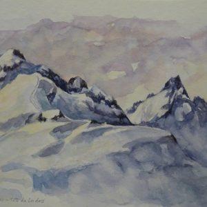 La Tête des Lindars, aquarelle