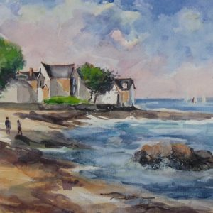 Piriac-sur-Mer : Beg ar C'hastellig (aquarelle)