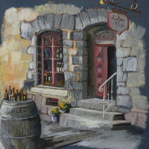 Bécherel : la cave d'Elodie (pastel sec, premier prix Sérusier)