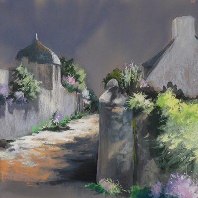 Pont-Croix : rendez-vous aux Courtils, pastel sec (premier prix Sérusier)