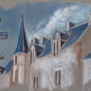 Rochefort-en-Terre : l'Orée du Bois (étude préparatoire au pastel sec)