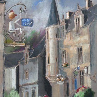 Rochefort-en-Terre : l'Orée du Bois, pastel sec
