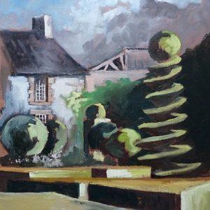 Bazouges-la-Pérouse : l'univers enchanté des jardins de la Ballue (huile sur toile, nommée par le jury)