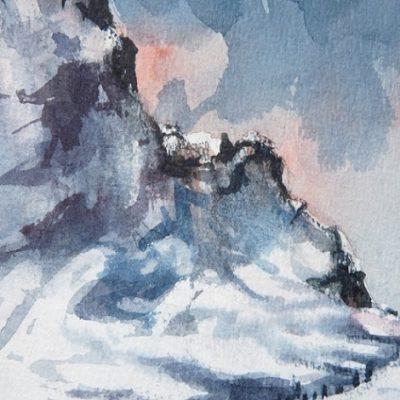 Pointe de la Frête (1913 m), aquarelle