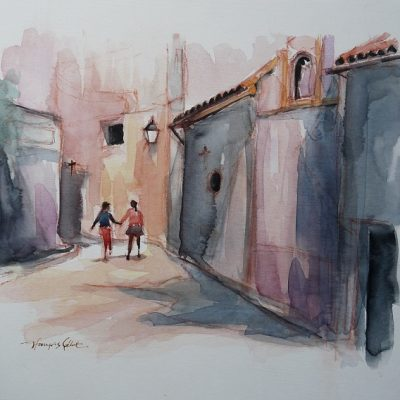 Cordoue, aquarelle