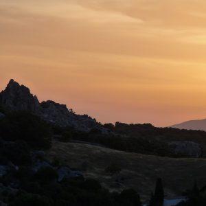 Pueblos blancos : lever du jour sur Grazalema