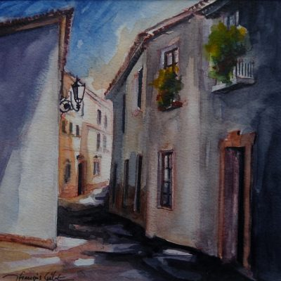 Ronda, dans la vielle ville, aquarelle