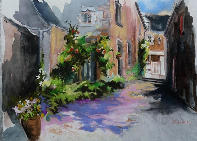 La rue Carette, pastel sec (premier prix Sérusier)