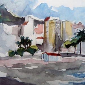 La Palma, le sable gris de la plage de Santa Cruz