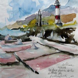 La Palma, les deux phares et les salines de Fuencaliente