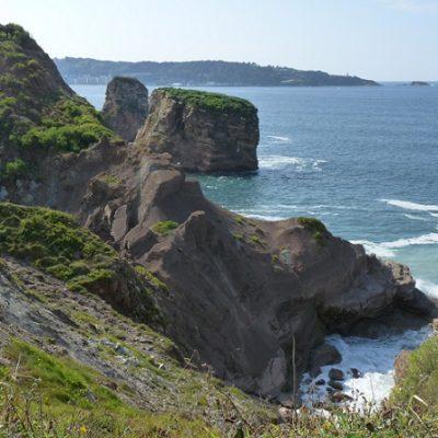 Domaine d'Abbadia, la pointe Sainte Anne et les Jumeaux.