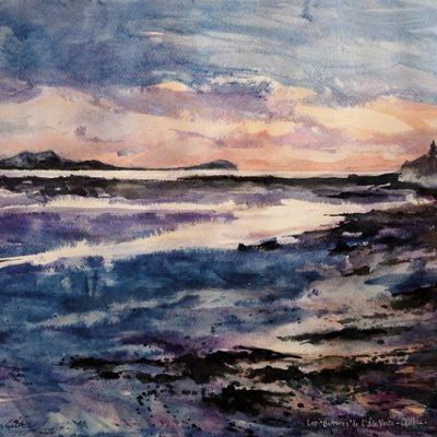 Au grè des Marées, aquarelle (50 x 65 cm)