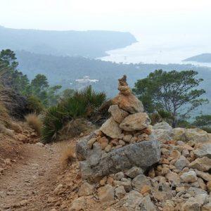 Un cairn sur les hauteurs de Sant Elm