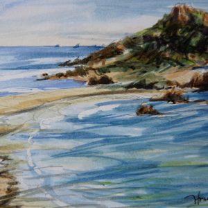 Cap Taillat, aquarelle