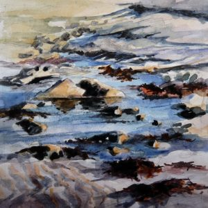 Marée basse à Saint Clément (aquarelle)