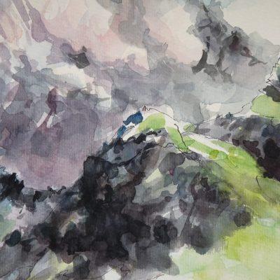 Désert de Platé, aquarelle