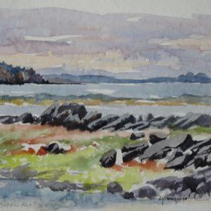 """Île Verte, """"Le Bout d'en Haut"""" (aquarelle, 25 x 18 cm)."""