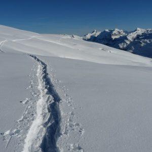Les Grandes Platières et le massif du Mont-Blanc