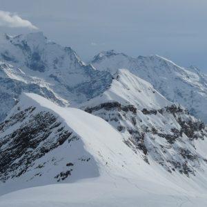 La chaîne du Mont-Blanc depuis les Grandes Platières