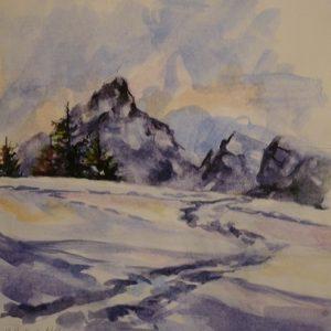 La Pointe Percée, aquarelle
