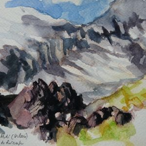 Torrent de Susanfe, aquarelle (21 x 13,5 cm)
