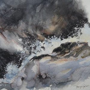 Torrent du Chalin, aquarelle (36 x 26 cm)