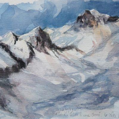 La Tête Pelouse (2475 m), aquarelle