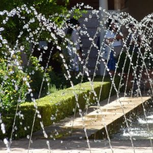 Granada, jeux d'eau dans les jardins du Generalife
