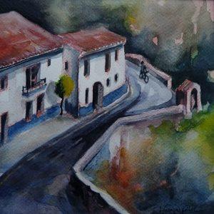 Granada, au pied du Sacromonte, aquarelle