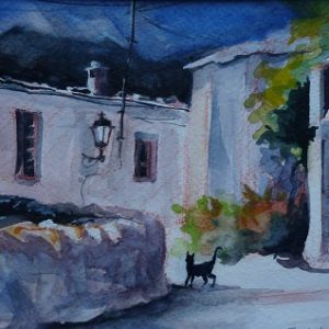 Fondales (Sierra nevada), torpeur estivale, aquarelle
