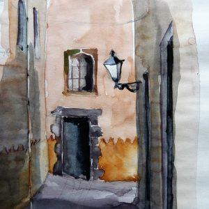 Las Palmas, La Vegueta : callejón de la Revuelta