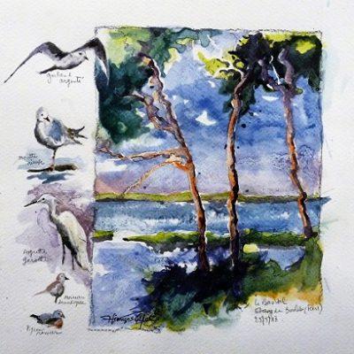 Le Bas Val (aquarelle, 22 x 22 cm)