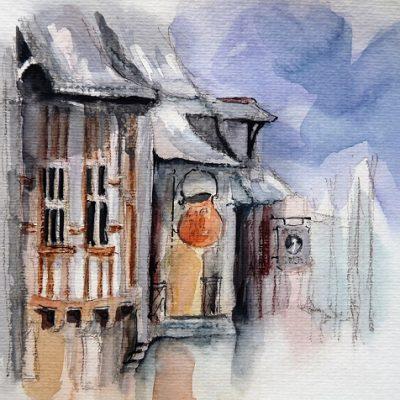 Concarneau, aquarelle