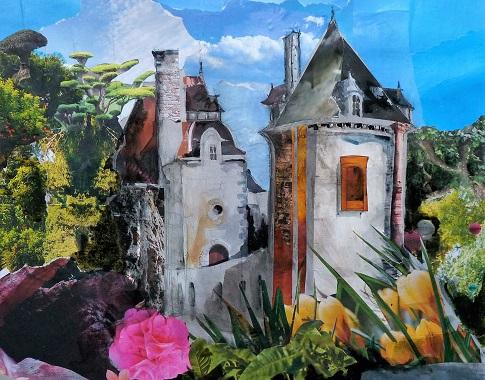 Château de Montreuil-sur-Ille, collage (premier prix Sérusier)