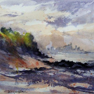 Baie de l'Arguenon, aquarelle